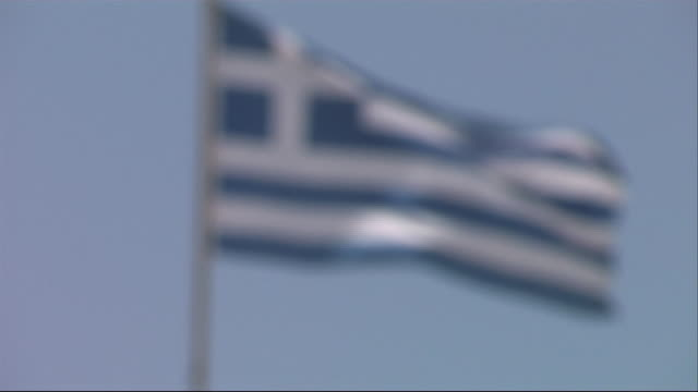 nnbs302j - greek flag stock videos & royalty-free footage