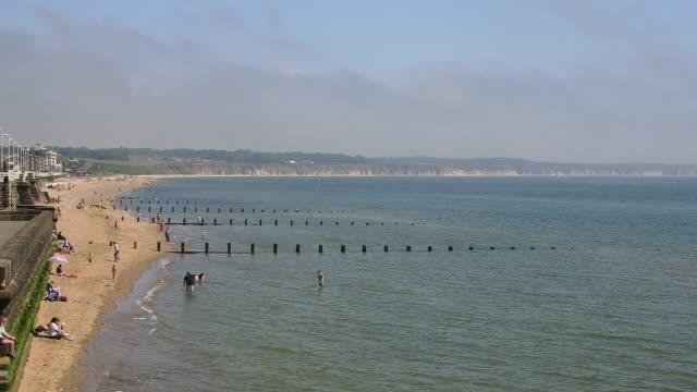 north beach promenade and flamborough head - bridlington stock-videos und b-roll-filmmaterial