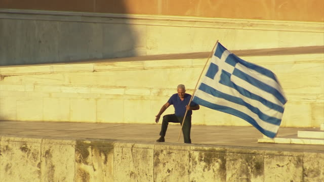 nnbs319j - greek flag stock videos & royalty-free footage