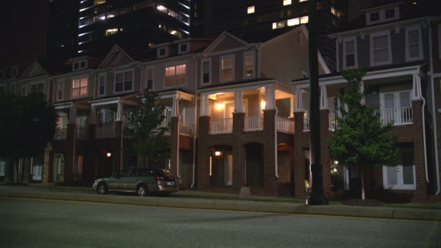 n/x 3 - story row house apartment (actually 16th st. nw, atlanta, ga - row house stock videos & royalty-free footage