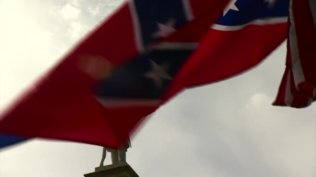 nnbs332h - confederate flag stock videos & royalty-free footage