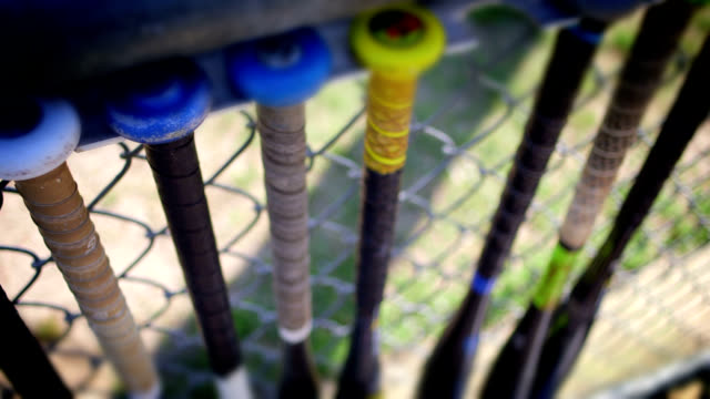 baseball bats rack - baseball bat stock videos & royalty-free footage