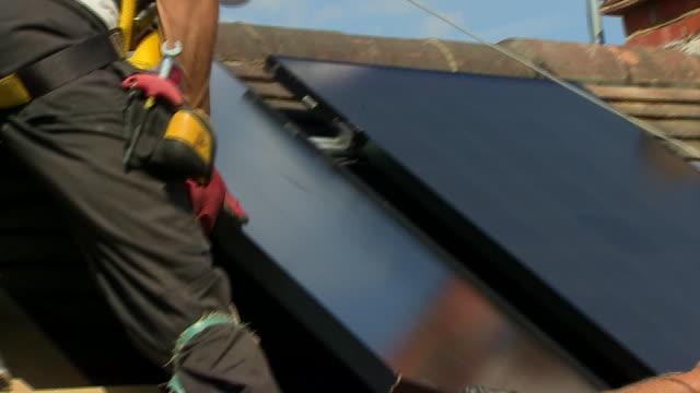 nnps355b - solar panel stock videos & royalty-free footage