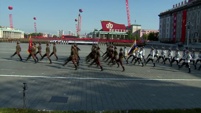 abla583a bbc world news - military parade stock videos and b-roll footage