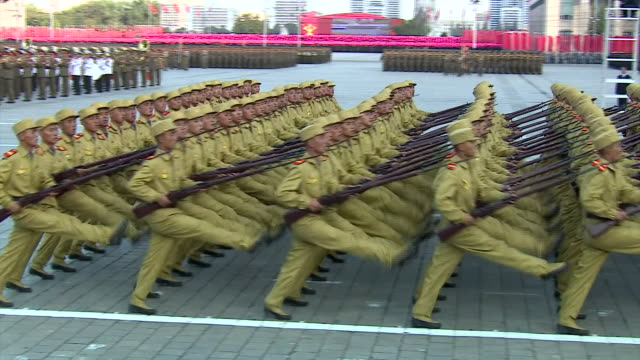 abla583a bbc world news - military parade stock videos & royalty-free footage