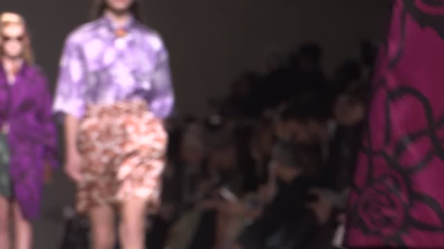 dries van noten fashion show | front row | ready to wear spring summer 2016 | paris fashion week - spring summer collection stock videos & royalty-free footage
