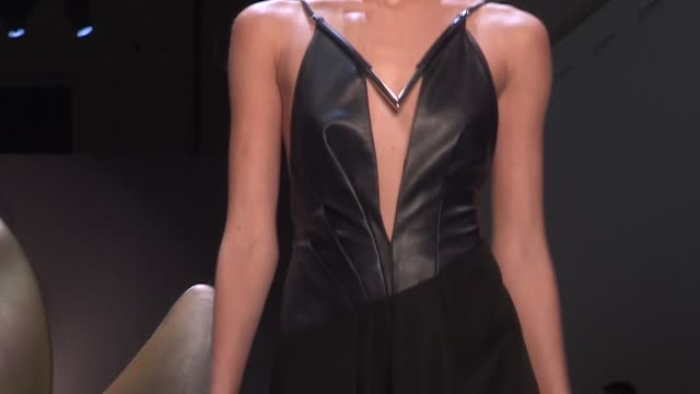 mugler fashion show | front row | ready to wear spring summer 2016 | paris fashion week - 2015 stock videos & royalty-free footage