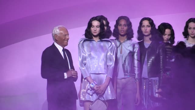 the finale | georgio armani prive fashion show | haute couture 2016 | paris fashion week - fashion show stock videos & royalty-free footage