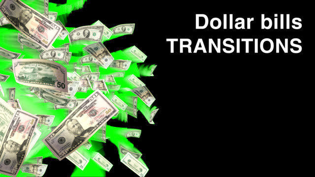 video transition set - dollar bills - currency stock videos & royalty-free footage