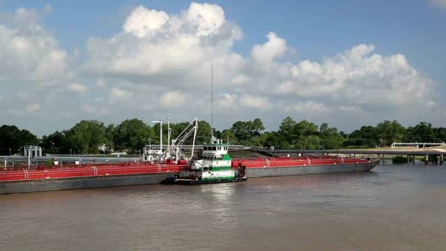 river tanker barge - barge stock videos & royalty-free footage