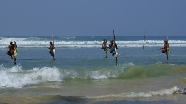 stilt fishermen and surf - pole stock videos & royalty-free footage