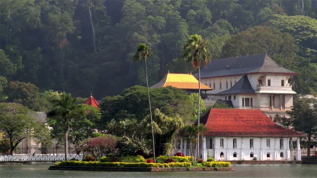 temple of the tooth relic - sri lankan culture stock videos & royalty-free footage