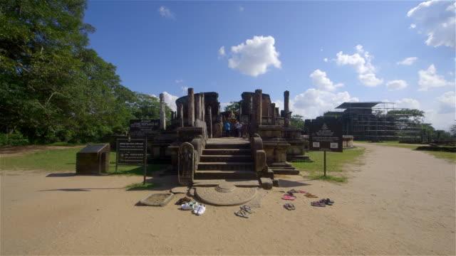 vatadage monument - sri lankan culture stock videos & royalty-free footage