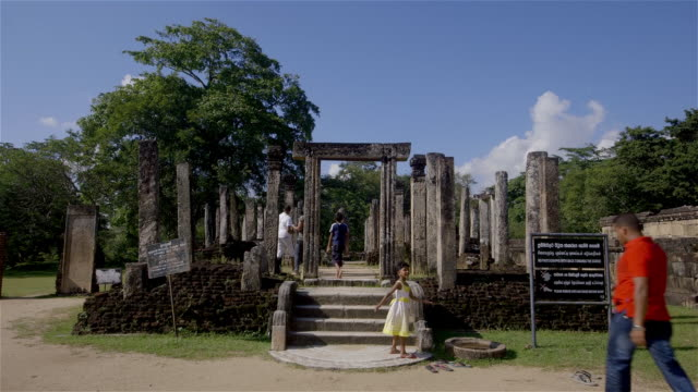 atadage monument and tourists - sri lanka stock videos & royalty-free footage