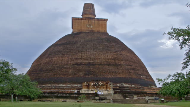 jethawana stupa - sri lankan culture stock videos & royalty-free footage