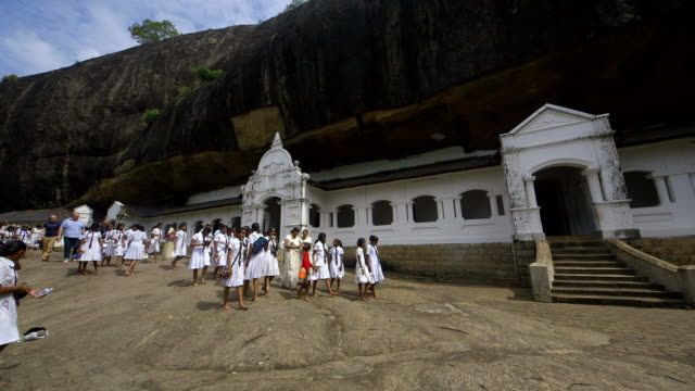 cave entrances and school children - sri lankan culture stock videos and b-roll footage