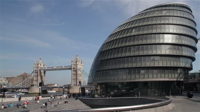 tower bridge and city hall - land vehicle stock videos & royalty-free footage