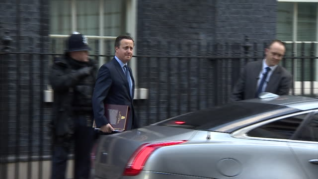 ABLA583A BBC News rushes lib/ cameron downing st departure/1105/18/2
