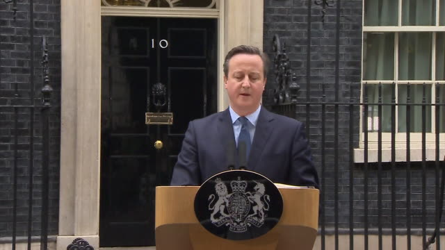 abla583a bbc news rushes lib/cameron referendum statement/1220/20/2 - referendum stock-videos und b-roll-filmmaterial
