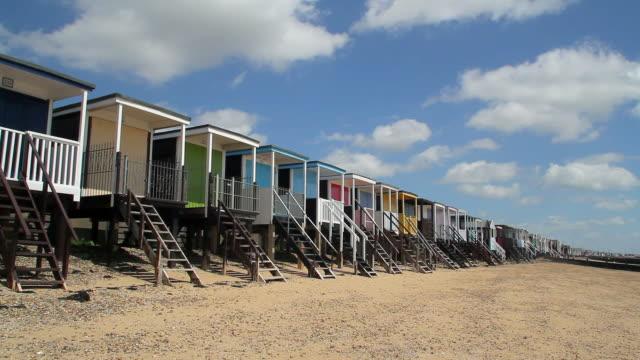 beach chalets - coastline stock videos & royalty-free footage
