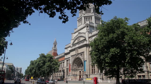 victoria and albert museum - victoria and albert museum london stock videos & royalty-free footage