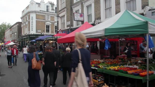 fruit and veg market stall - notting hill videos stock videos & royalty-free footage