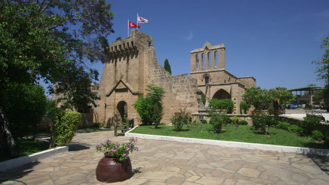 bellapais monastery - republic of cyprus stock videos & royalty-free footage