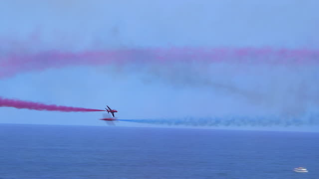 red arrows aerial display team - red stock videos & royalty-free footage