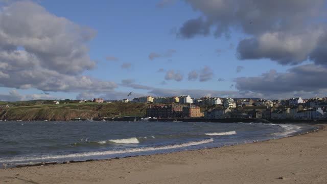 irish sea beach and shore road - isle of man stock videos & royalty-free footage