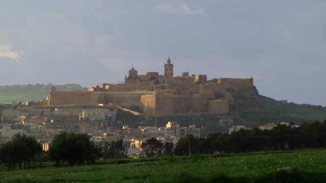 the citadel victoria - fortezza video stock e b–roll