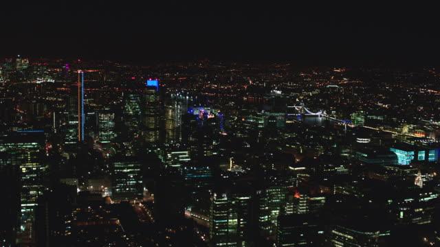 n/x aerial london - tower bridge stock videos & royalty-free footage