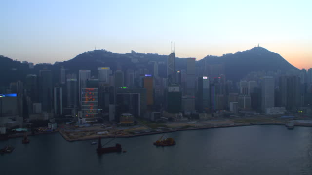aerial hong kong (late afternoon) - 1 minute or greater stock videos & royalty-free footage