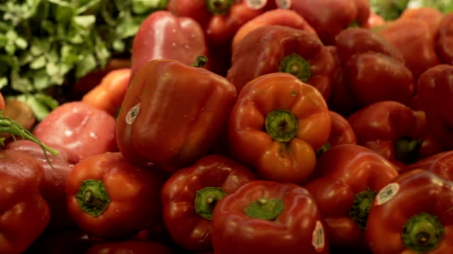 red peppers - red bell pepper stock videos & royalty-free footage