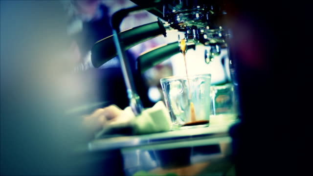 barista making coffee - froth art stock videos and b-roll footage