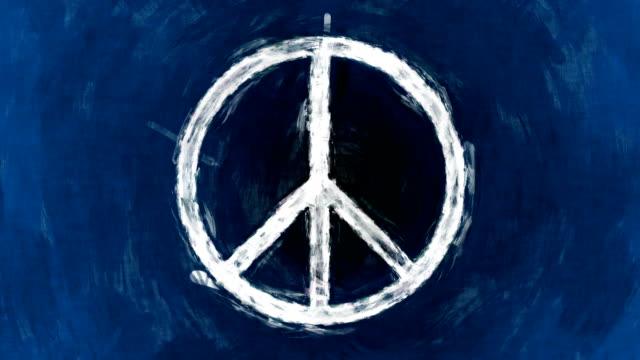 vidéos et rushes de art symbole de la paix - signalisation