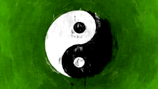 art yin yang symbol - balance stock videos & royalty-free footage