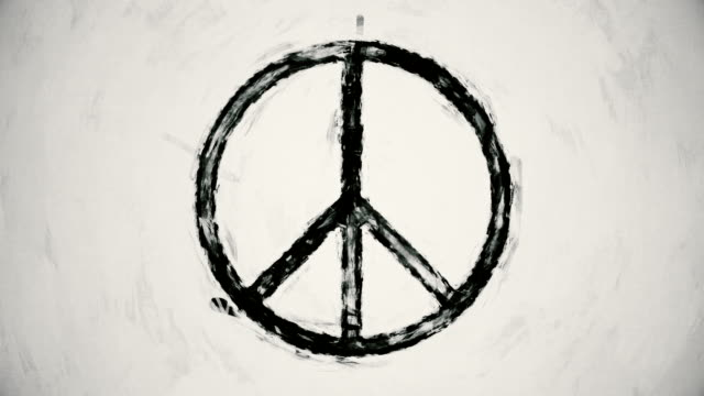 art peace symbol - symbols of peace stock videos & royalty-free footage