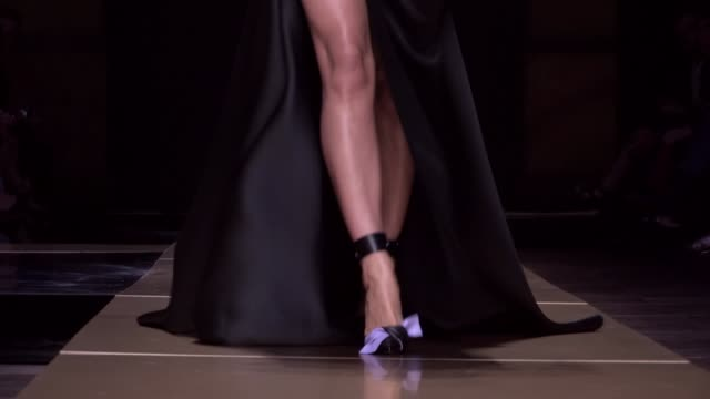 versace fashion show | haute couture fall winter 1617 | paris fashion week - fashion collection stock videos & royalty-free footage