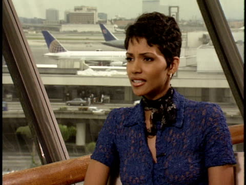 executive decision junket interviews halle berry - halle berry stock videos and b-roll footage