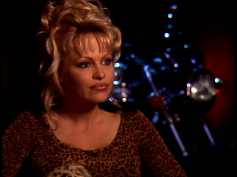 barb wire junket interviews ;;pamela anderson lee - barbed wire stock videos & royalty-free footage