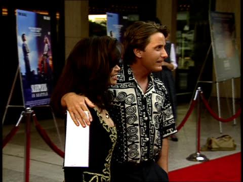 Emilio Estevez and Paula Abdul on the red carpet
