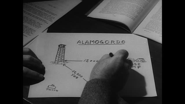diagram of first atomic bomb test at alamogordo - new mexico stock videos & royalty-free footage