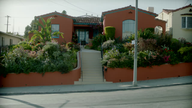 wide angle of spanish style ranch house. - ranch house stock videos & royalty-free footage