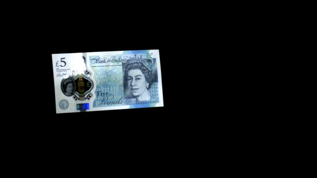new uk £5 note falling through frame in super slow motion, 2000 fps, hd. - banknote stock videos & royalty-free footage
