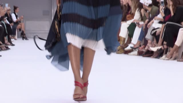 chloe fashion show | ready to wear spring summer 17 | paris fashion week - chloe designer label stock videos and b-roll footage