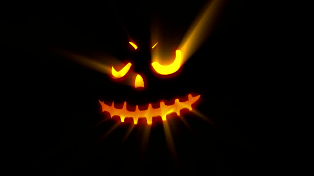 jack-o-lantern-halloween pumpkin - keyable stock videos & royalty-free footage