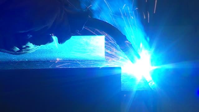 news rushes lib/reid steel/0945/2/10 abra943d - welding helmet stock videos & royalty-free footage