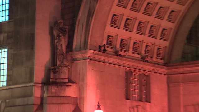 news rushes lib/mi5 hq night/ 0502/20/12 abra943d - イギリス情報局保安部点の映像素材/bロール