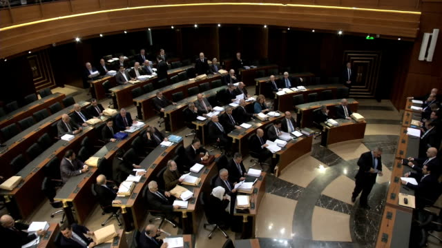 beirut parliament quota session - parliament building stock videos & royalty-free footage