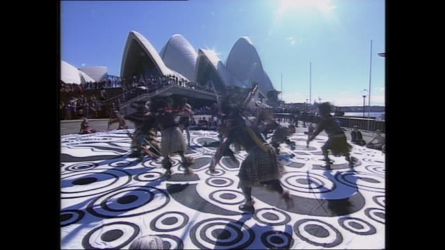 GLENN MILNE REPORTS ON RECONCILATION DAY CEREMONY CLOSE UP AERIAL OF BOTANIC GARDENS OPERA HOUSE / INDIGENOUS DANCERS OPERA HOUSE FORECOURT / INSIDE...